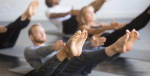 Pilates in class